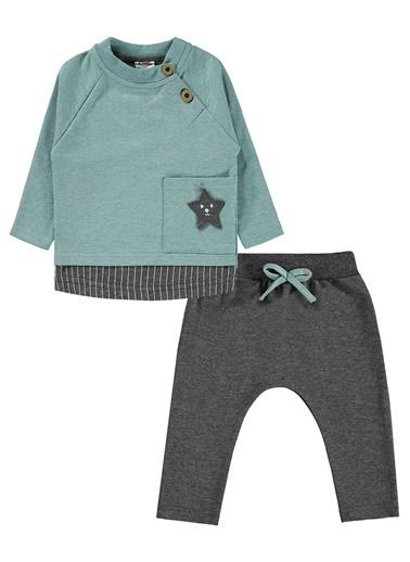 Civil Baby  Erkek Bebek Takım 6-18 Ay Yeşil  Erkek Bebek Takım 6-18 Ay Yeşil Yeşil